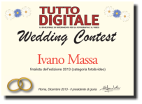 L'attestato di finalista Wedding Contest 2013 -  sezione video e foto