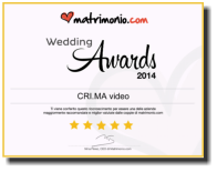 L'attestato di vincita del Wedding Awards 2014
