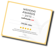 L'attestato di vincita del Wedding Awards 2015