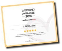 L'attestato di vincita del Wedding Awards 2016